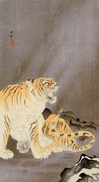 Tiger. Ohara Koson. 20th c. Japan
