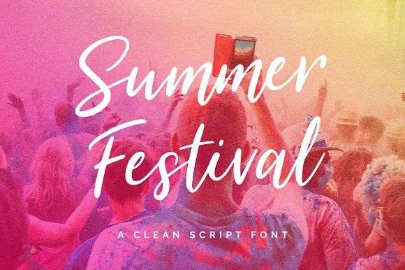 Summer Festival Typeface by Mats-Peter Forss on @creativemarket  #affiliate