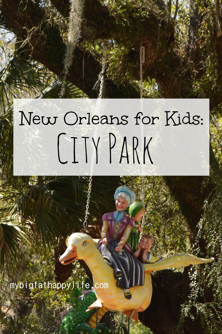 New Orleans for Kids: City Park; Louisiana Family Travel | mybigfathappylife.com
