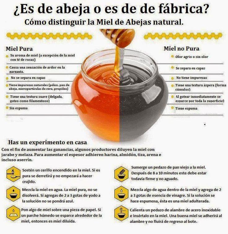 ¿Como saber si la miel ha sido adulterada y si es de Abeja o es de fabrica? - ConsejosdeSalud.info
