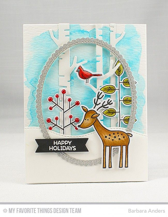 My Favorite Things - DEER FRIENDS - Clear Stamps - Hallmark Scrapbook - 7