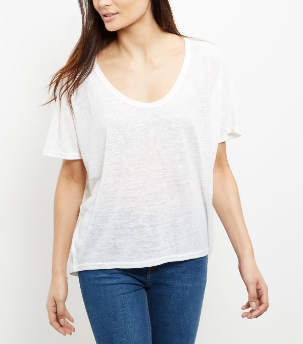 White Batwing T-Shirt  | New Look