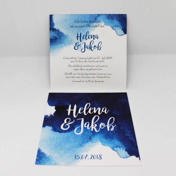 Hochzeitseinladung Aquarell Einladungskarten Hochzeit