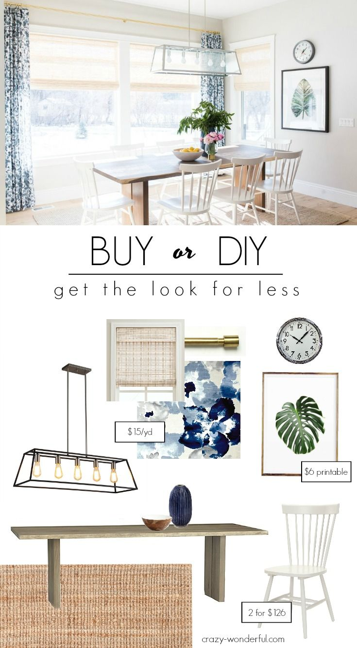 Crazy Wonderful: buy or diy - transitional dining room, get the Studio McGee look for less