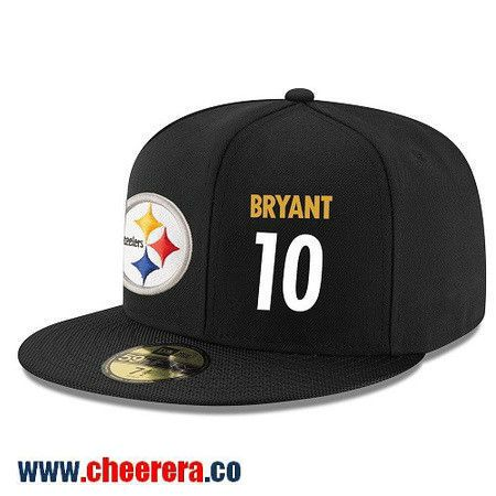 Pittsburgh Steelers #10 Martavis Bryant Snapback Cap NFL Player Black with White Number Hat