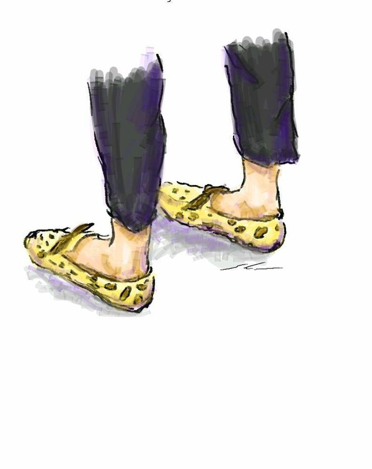 It is a sketch of leopard print shoes.  I drew while commuting on a train with the GALAXY Note.