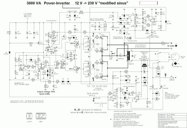 shore power 230v wiring diagram circuit diagram of 3000 watt power inverter 12v dc to 230v ... 230v wiring diagram in malaysia