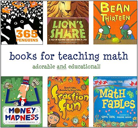 Using picture books to teach math from http://www.the-best-childrens-books.org/math-for-kids.html