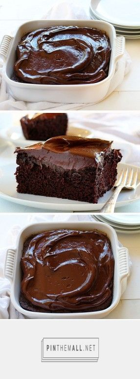 Chocolate Craving Cake ... the perfect serving from i am baker -