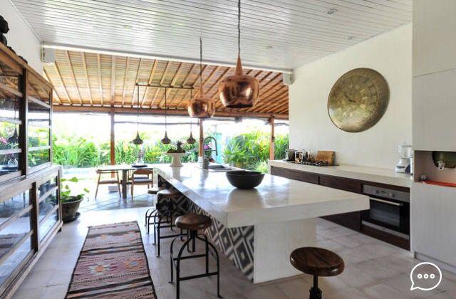 Villa Harmony in Bali. Wood, classic, bali futures, modern, kitchen- terrace, luxury tropical open living,