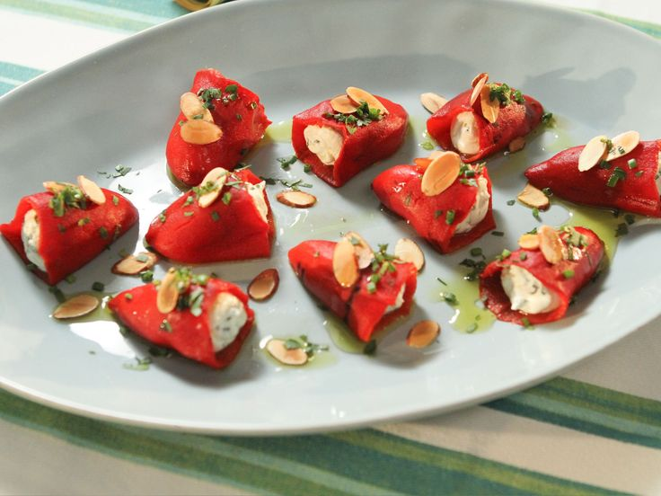 Goat Cheese-Stuffed Piquillo Peppers recipe from Patricia Heaton Parties via Food Network