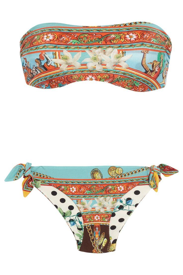 Dolce & Gabbana | Reversible printed bandeau bikini