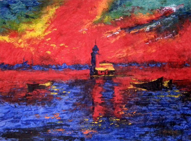 Kız Kulesi - 4 / Maiden's Tower - 4 by Mesut Kırmızıgül TÜYB / #Oilpainting 100cm x 70cm  #gallerymak #sanat #manzara #ressam #modernsanat #istanbul #boğaz #kızkulesi #abstract #mavi #resim #boğaziçi #güzel #gününkaresi #gununfotografi #painter #artforsale #artmarket #exhibition