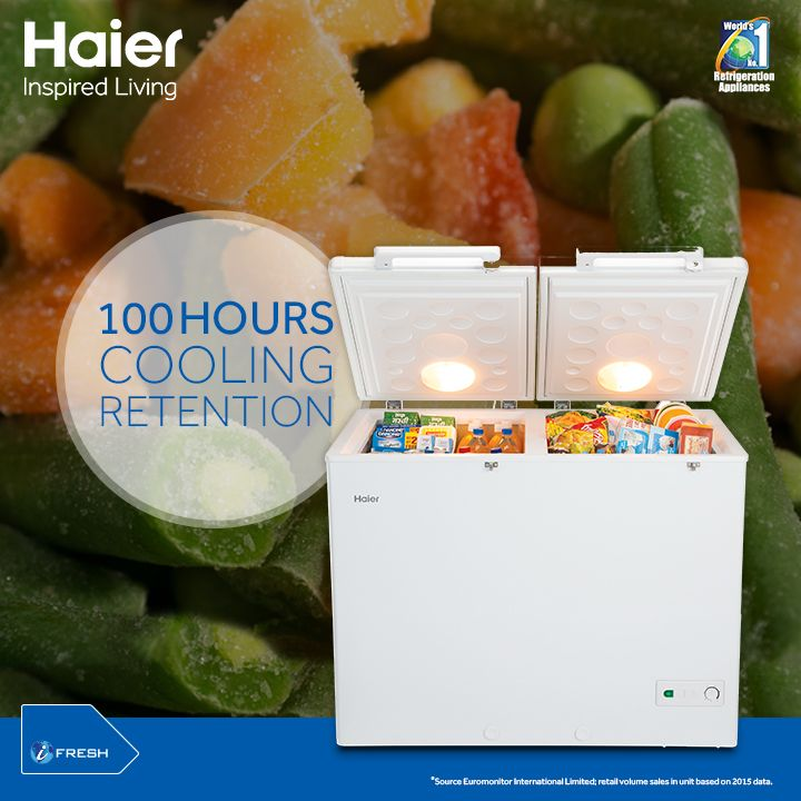 With Haier's #DeepFreezer, get upto 100 Hours #Cooling Retention even after Power Failure.  #Lifestyle #Technoloy #Appliances #Innovation #HaierIndia #InspiredLiving
