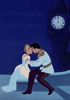 Disney Cinderella Kissing The Prince Gif