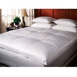 Twin Extra Long Down Top Featherbed high quality bed topper must have dorm bedding product for college dorm twin xl beds for guys or girls c...