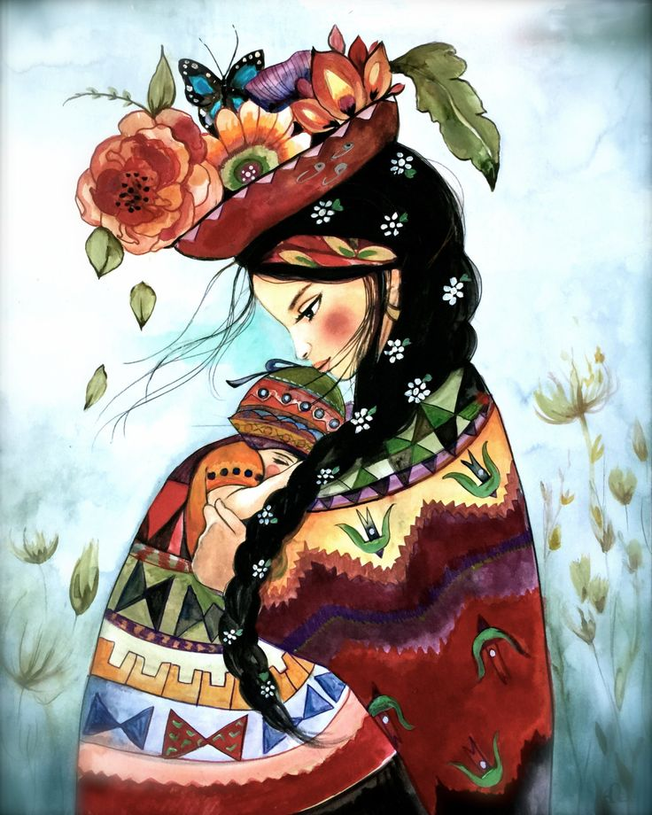 Peruvian mother inspired print by claudiatremblay on Etsy