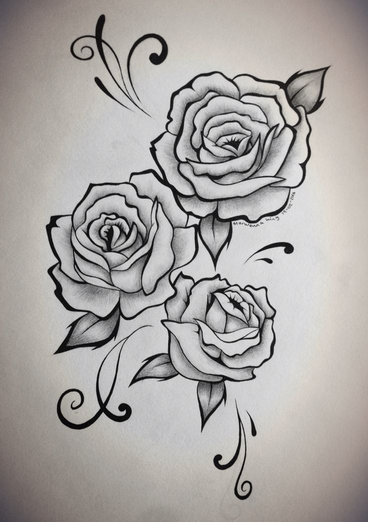 Rose tattoo design Rose tattoo design, Tattoo drawings