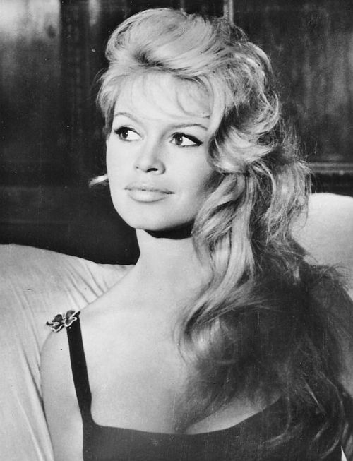 Actress Brigitte Bardot (b. 1934), date unknown. Trying these cat eyes today.