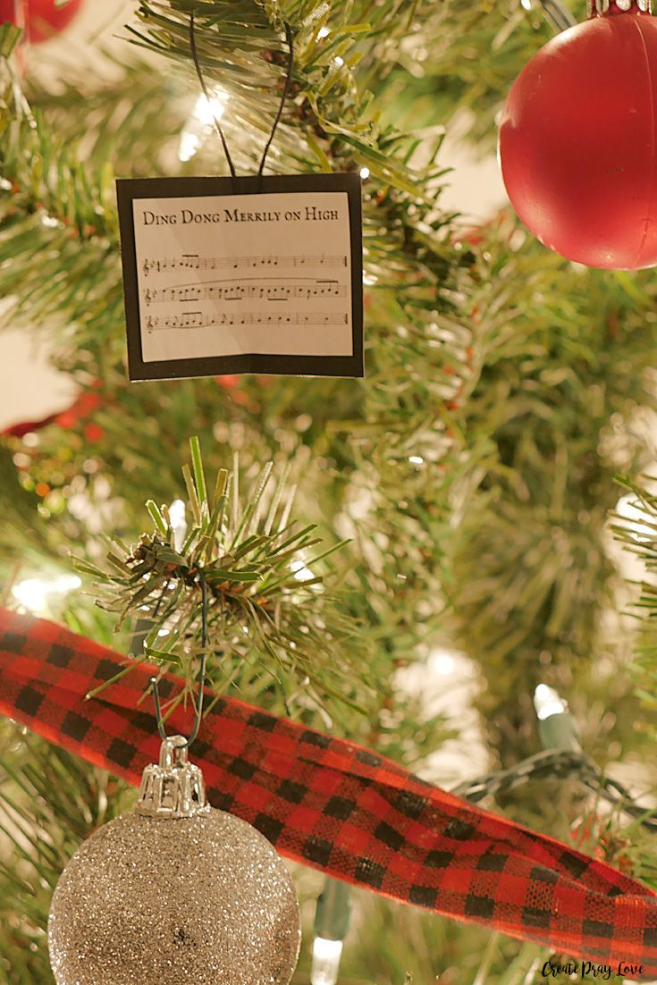 Diy Christmas Carol Sheet Music Ornaments Create Pray Love Sheet Music Ornaments Music Ornaments Christmas Diy
