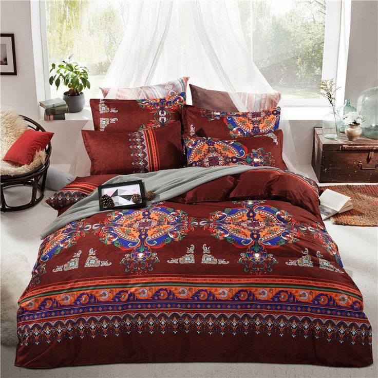 Boho Moroccan Bedding Set, Boho Bedding Queen Size