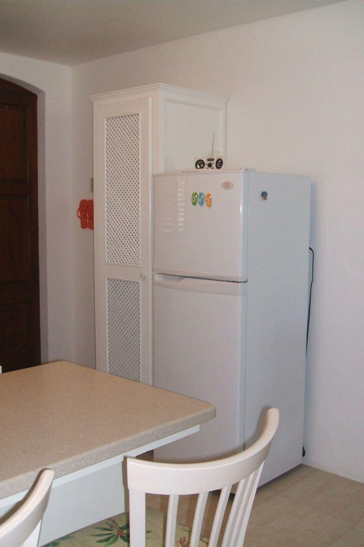 full sized refrigerator/freezer and extra large pantry