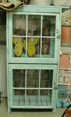 old windows ~ cabinet