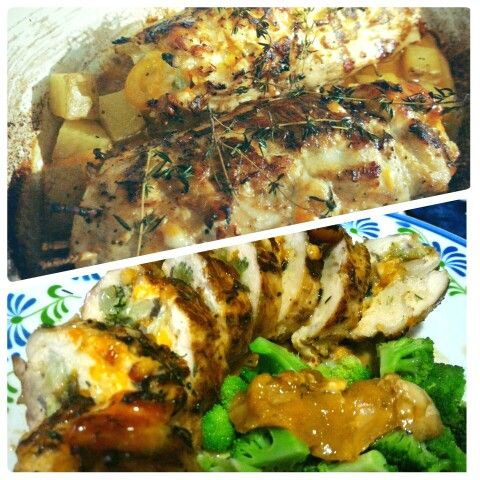 Chicken Roll with veggies & cheese. Mine!