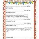 Class rules contract holds students (and teacher!) accountable for understanding classroom expectations and consequences.   *Recently updated font ...