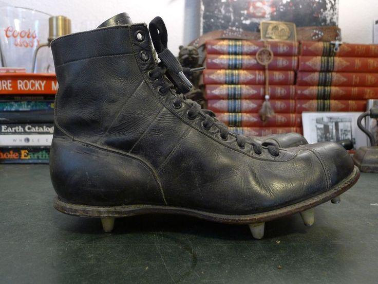 Vintage Rawlings Fleetfoot Football High Top Cleats - Mens 10.5 1950s  #Rawlings #fleetfoot #football #mancave