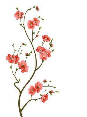Väggdekor Cherry blossom gren abstrakt bakgrund