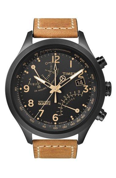 Timex® 'Intelligent Quartz' Flyback Chronograph Watch