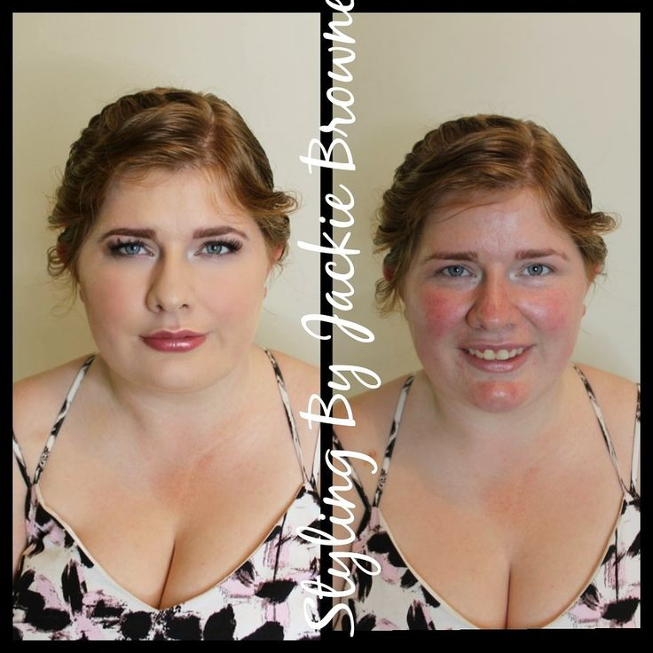 Before and after makeup on my bride