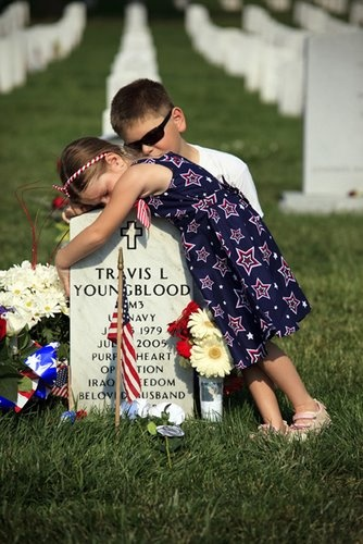 Just sad... Remember our fallen military and their loved ones left behind... They deserve our respect!
