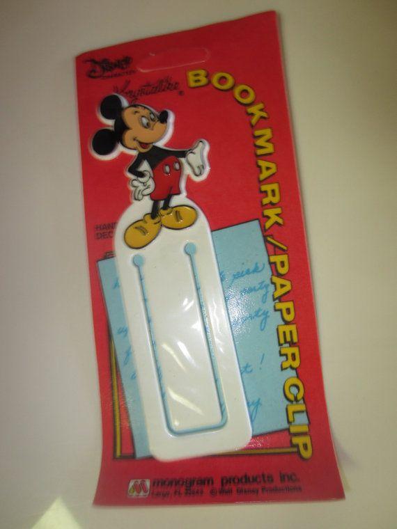 Vintage Krystalike Disney Bookmark Paper Clip by kookykitsch, $10.00