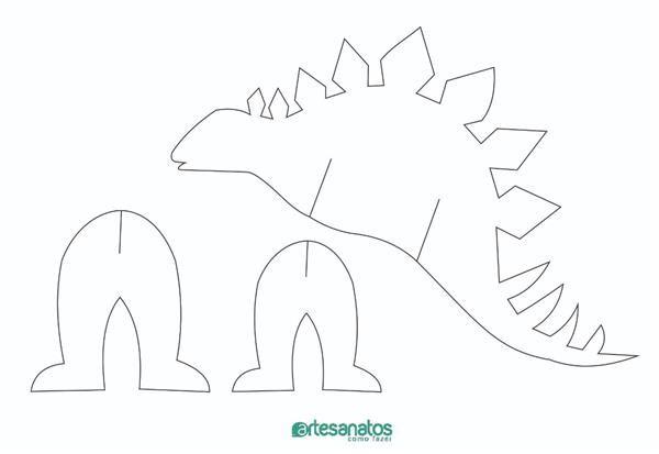Molde De Dinossauro Para Imprimir Molde De Dinossauro