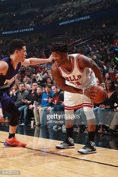 News Photo : Jimmy Butler of the Chicago Bulls handles the...
