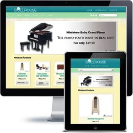 Miss Doll House E-commerce website built with Wordpress using responsive web design.