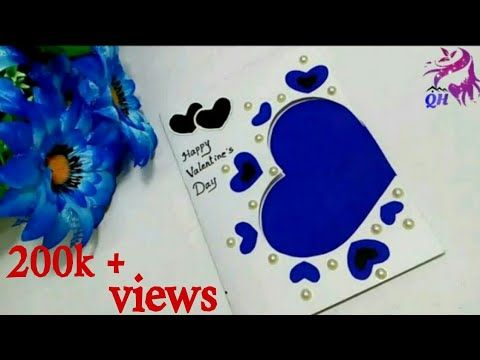 Valentine S Day Card Making Handmade Paper Cards Love Greeting Card Card Tutorial Queen S Home Youtube Paper Cards Paper Roses Tutorial Card Tutorial