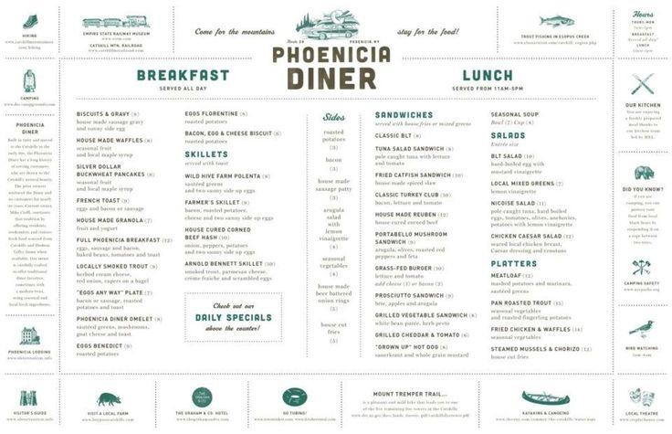 Phoenicia Diner | Catskills NY Roadside eatery serves local seasonal Catskills/Hudson Valley menu