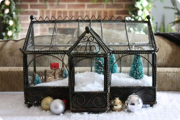 Make a WINTER fairy garden. So many things can be used for it. You could make one inside of a fish tank. If you see a fish tank at a garage sale....add little white lights to it for more winter magic.