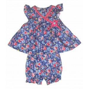 Toddler Floral Dress Set with Pants