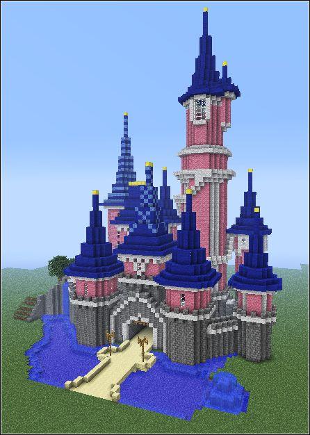 Disney castle in minecraft *-*