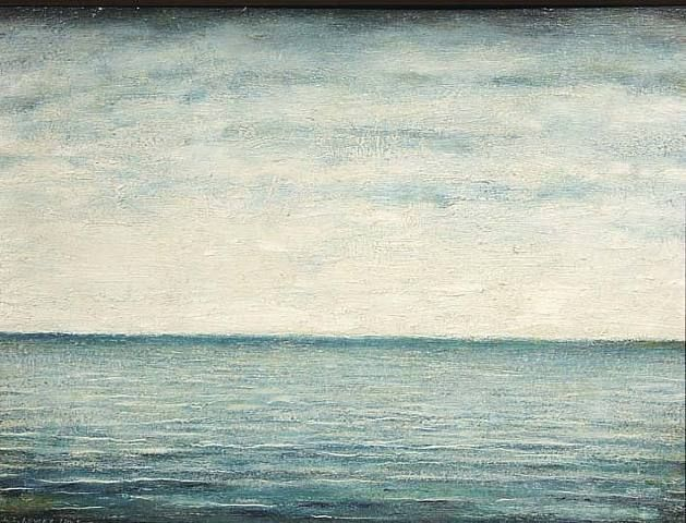 L S Lowry, 'Seascape' (1945)