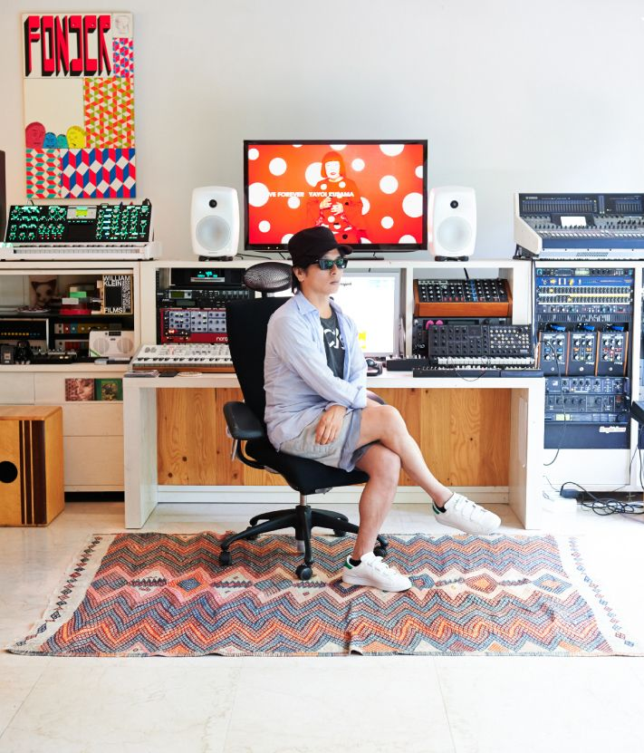 TOWA TEI in home studio - VU studio