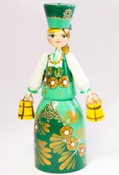 A painted wooden doll is a traditional Russian toy.