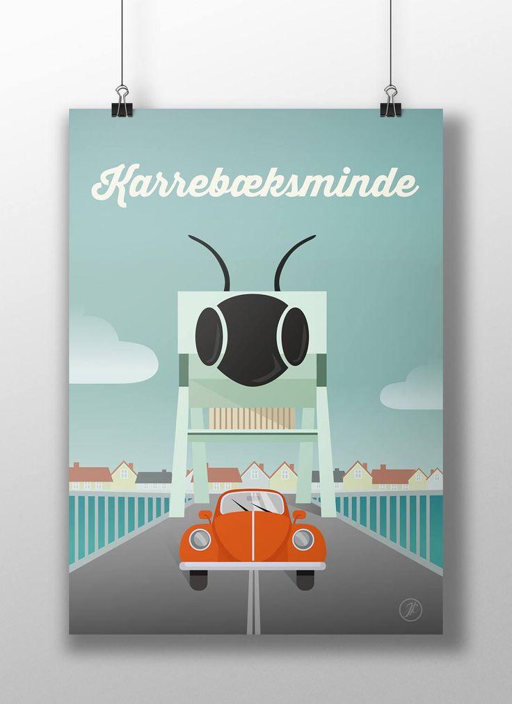 Karrebæksminde. poster, design, art, illustration, adobe, artwork, Denmark