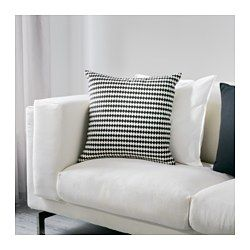 IKEA - STOCKHOLM, Cushion, , Cotton velvet gives depth to the colour and softness to the touch.The duck feather filling feels fluffy and gives your body excellent support.The zipper makes the cover easy to remove.