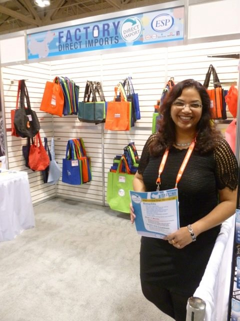Our bag factory booth at the Toronto trade show