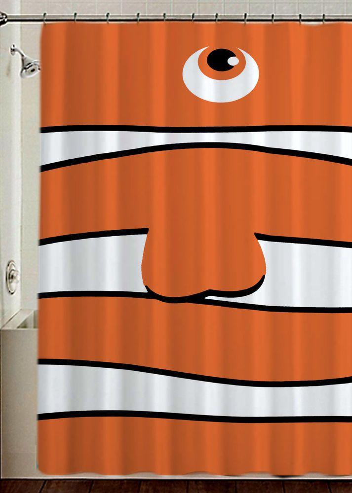 "Fending Nemo New Rare Design Disney High Quality Shower Curtain 60""x 72"" #Unbranded #Modern #New #Hot #Best #Custom #Design #Home #Decor #Bestseller #Movie #Sport #Music #Band #Disney #Katespade #Lilypulitzer #Coach #Adidas # Beauty #Harry #Bestselling #Kid #Art #Color #Brand #Branded #Trending #2017"
